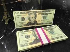 Скопируйте деньги Полный печать 2 Стороны, PROP MONEY 20 Доллар Билл для фильмов, Телевизор, Музыкальные Видео 100 шт. / Пакет