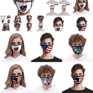 Masque Hommes Femmes Foral Anti-Uv Double Face Masques Layer Imprimer Mode Mout antipoussière Designer OAIC XCZJ Masque Hommes Femmes Foral Anti-Uv Visage Twxf