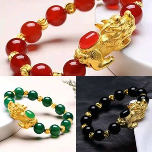 Вьетнамский песок золото твердый Аксессуар латунь позолоченный браслет braceletAgate Zhaocai вьетнамский песок золото ювелирные изделия твердый Аксессуар латунь золото-пл
