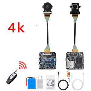 Mando a distancia real 4K 4096 * 2160 30 fps 60 fps WiFi P2P Mini cámara grabadora de vídeo de la videocámara ancha módulo de aviones no tripulados ángulo de bricolaje