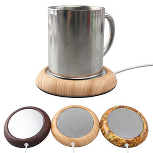 6 Renkler USB Ahşap Tahıl Fincan Isıtıcı Isı İçecek Kupa Mat İçecek Tutmak Sıcak Isıtıcı Kahve Çay Bardakları Kupalar Coaster Ev Bar 189 K2