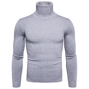 FAVOCENT Winter Warm Turtleneck Sweater Men Fashion Solid Knitted Mens Sweaters 2020 Casual Male Double Collar Slim Fit Pullover