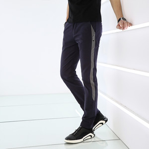 K9908 200.930 yeni erkek BINHIIRO Yaz Erkek Pantolon Splice İnce Bölüm Elastik Günlük Pantolon Erkekler Karışık Pamuk Koşu Spor Pantolon