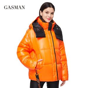 Gasman Parka Com Capaz Mulheres Mulheres Jaqueta Moda Moda Mulheres Casaco Zipper Outwear Feminino Sólido Outono Buffer Jacket 213 201202