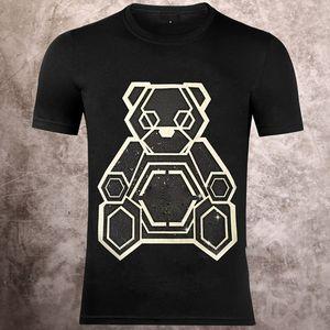 Homme nouveau T-shirt de crâne d'été de base marque lettre d'impression cristal solide dollar en tête punk T vêtements pour hommes de luxe design manches courtes M-3XL