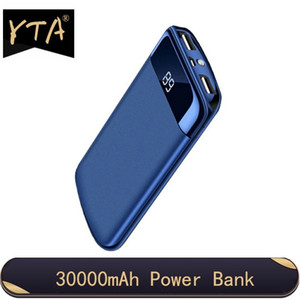 30000mah Power Bank External Battery PoverBank 2 USB LED Powerbank Portable Mobile phone Charger For Xiaomi Samsung iphone 18650