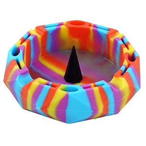novelty Ashtray Silicone container Portable Cigarette Holder Multicolor Smoking Accessories Heat resistant Via DHL 2020 Hot Sell