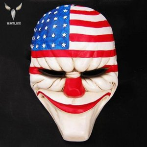 Waylike Halloween Clown Mask Adult Party Costume Mask Horror Carnival Cosplay Party Props