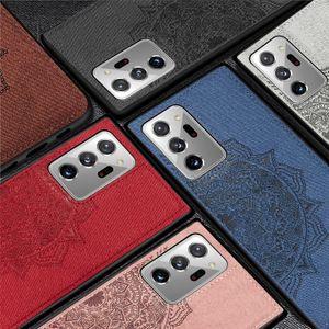 Cloth Fabric Back Case For Samsung Galaxy S7 S8 S9 S10 S20 Plus Ultra For Samsung Note 8 9 10 Lite 20 Ultra Silicone Cover J4 J6 Plus Preime