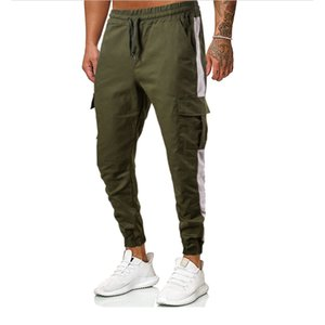 Pantalones de moda para hombre Pantalones deportivos Slim Fitness Training Gimnasio Jogging Mens Sport Sweetpants Tamaño asiático S-XXL
