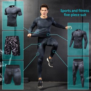 Yuerlian Compression Men's Courant Ensemble de vêtements Sport Joggers Formiding Gym Tracksuit pour hommes Gym Sport Sport W1231