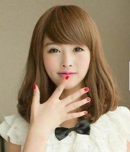 Fashion Womens Lady's Medium Curly Hair Lolita Cosplay Full Wig