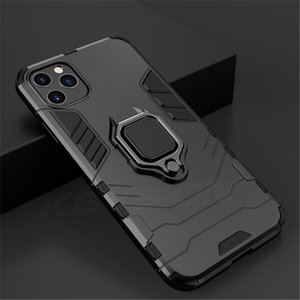 4 In 1 Shockproof Case For iPhone 12 Pro Max Case For iPhone 11 Se XS Xs Max XR Magnetic Phone Finger Holders