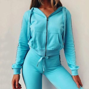 Women's Sports Sweater New Fashion Hooded Sports and Leisure 2piece Suit Fitness Yoga Set Outdoor Running Gym Jogging Clothes