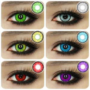 1 Pair Beautiful Pupil Eye Cosmetic Colorful Contact Lenses Halloween Cosplay Lenses Crazy Lens for Eyes