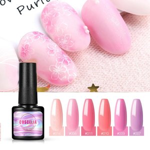 COSCELIA NEW Nail Gel Polish 32 Colors 7ml UV LED Gel Nail Polish Long Lasting Sock Off Varnish All For Manicure Nail Art