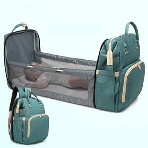 Diaper Bags Moms Backpack Multifunctional Baby Bed Bags Maternity Nursing Handbag Stroller Bag Nappy Large Capacity Mummy Bags 201022