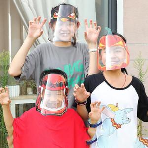 Los niños careta de Halloween máscara transparente PET transparente reutilizable anti salpicaduras de Navidad Año Nuevo dibujos animados máscara protectora del DDA625