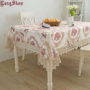 Tablecloth Vintage Beige For Home European Hotel Jacquard Wedding Classic Style Decoration1 Party Banquet Ghccv