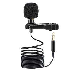 3.5m Mini Portable Lavalier Microphone Condenser Clip-on Lapel Mic Wired Mikrofo Microfon for Phone for Laptop PC
