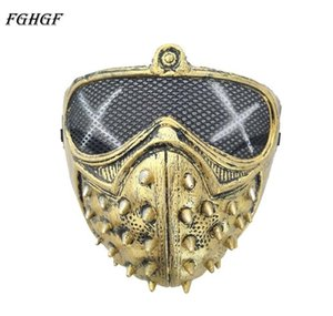 Fghgf Dogs Latex Game Watch 2 WmtUqa Marcus Holloway Mask Face Cosplay Rivet Wrench Half Face Wd2 P Mask Item_home Vcwmw