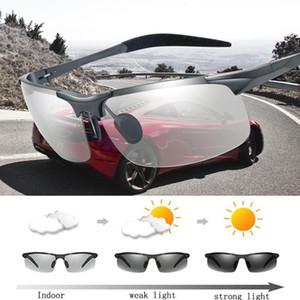 Safety New PhotoChromic Vision الاستقطاب النظارات الشمسية النظارات الشمسية السائقين النظارات الشمسية 2020 ليلة UV400 القيادة الشمس للرجال xuint