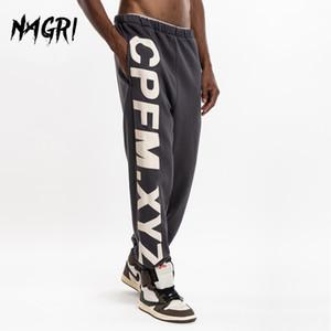 NAGRI Kanye Men's CPFM.XYZ Sweatpants Hip Hop Joggers Yoga Lounge Harem Pants Pockets Retro Outdoor Hiking Running Trousers Q1110