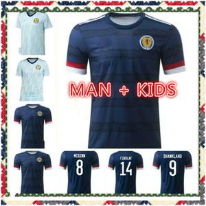Yeni İskoçya Futbol Formaları 2020 2021 Robertson Fraser Futbol Gömlek Seti Naismith McGregor Christie Forrest McGinn Erkekler Çocuklar Eve Unifo
