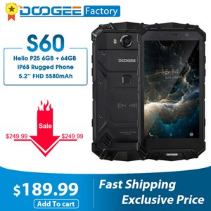 "DOOGEE S60 6GB+64GB Helio P25 Octa Core Smartphone Wireless&Quick Charge IP68 5.2""FHD 21MP Camera Mobile Phone 4G LTE cellphones"