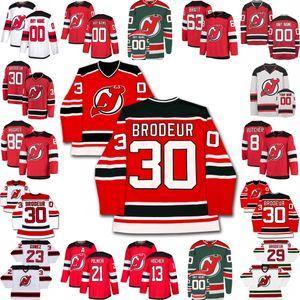 New Jersey Devils Jersey Jack Hughes Miles Wood Yegor Sharangovich Kyle Palmieri Travis Zajac P. K. Subban Nico Hischier Damon Severson