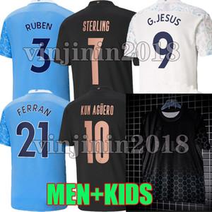 2020 2021 CITY 축구 유니폼 베르나르도 STERLING DE BRUYNE KUN 아궤로 (20) (21) 맨체스터 BALR 셔츠 루벤 FERRAN 축구 셔츠 남자 아이 키트