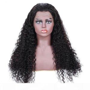 """Лучшие горячие самые горячие бразильские человеческие волосы kinky Curly 10 """"-24"""" женские кружевные фронтские парики 13 * 4 парики волос Европа Африка мода полное плетение"""