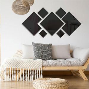 Fondo de pantalla extraíble de la sala moderna decoración pegatinas Plaza Geometría Inicio de decoración Abstract Wall etiquetas del arte