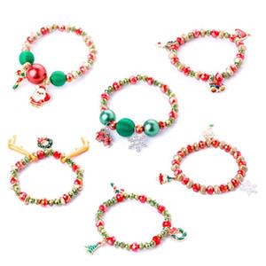 Noël 6 styles enfants bijoux bracelet bracelet heureux de cerf de noël bracelet bracelet bracelet bijoux cadeau