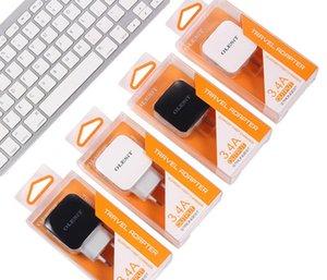 Olesit 듀얼 USB 벽 충전기 2.4A 자동차 충전기 2.1A 빠른 충전 휴대 전화 충전기 스마트 폰 Samsung 소매 상자
