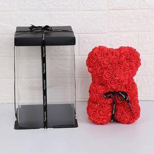 Saint Valentin Cadeau PE Rose Boîte Boîte Toy Fabriqué plein d'amour Romantique Teddy Ours Poupée Jolie petite amie Enfants Filles Présente GWE4380