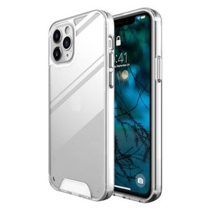 Transparent Phone Cases Anti-knock TPU PC Protective Shockproof Clear Case Cover For iPhone 12 11 Pro MAX XS XR 8 7 6 Plus