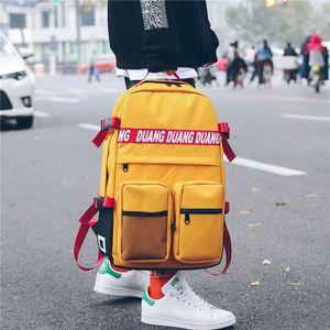 Ulzzang yönlü Basit Schoolbag Kadın Versiyonu Harajuku Erkek Öğrenci Koreli Okul Sırt Çantası Sokak Trend C1111