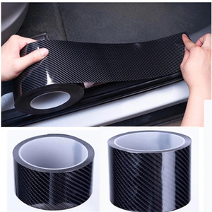 Carbon Fiber Car Door Sill Sticker Scratch Proof Moulding Strip Car Sticker Protector Door Protective Black