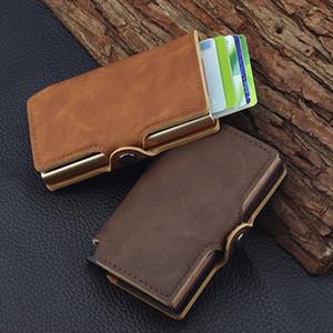 Minimalist Anti Rfid Blocking Wallet Mens Money Clip Slim Mini Wallet Drop Shipping Good Quality New Fashion