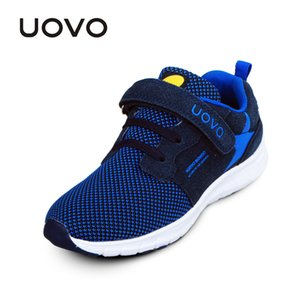 High Quality UOVO Spring Kids Fashion Breathable Mesh Children Sneakers For Boys And Girls Sport run Shoes Size #27-37