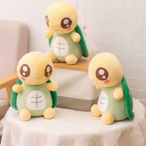 Kawaii Tortuga de ojos grandes Lomeo Animales Juguetes Relleno Little Turtle Soft Baby Kids Sleep Aplausase Doll Regalo de cumpleaños