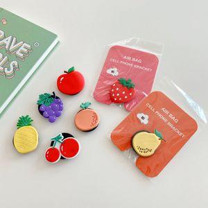 Fashion And Fresh Style Cartoon Fruit Series Mobile Phone Folding Mobile Phone Holder Universal Car Holder