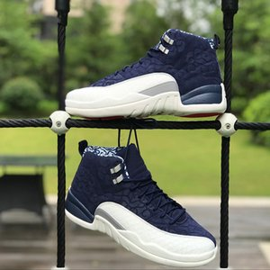 International Flight 12s Basketball Shoes BV8016-445 12 Tokyo Japan Men Sports Sneakers Size 40-47 Free Shipping New Arrival with BOX