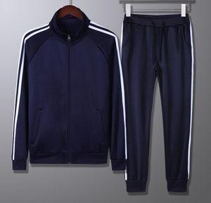 Sportswear de tamanho chinês Sportswear Casual Primavera Tracksuit Homens Duas Peças Conjuntos De Suporte Collar Jackets Calças Calças Calças De Terno De Trilha Running
