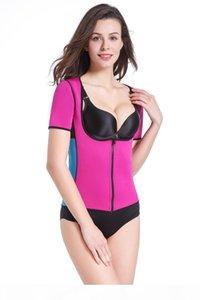 Hot Sweat Body Shapers Women Slimming Vest Tops Thermo Neoprene Waist Short Sleeve Shapewear Plus Size S-3XL