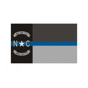 North Carolina State Flag Thin Blue Line Flag 3x5 FT Police Banner 90x150cm Festival Gift 100D Polyester Indoor Outdoor Printed Flag