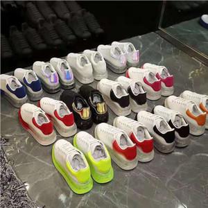 2021 Deri Sneakers Oversiezd Espadrilles Erkekler Kadınlar Flats Manastırı Espadrille Düz Beyaz Siyah Platformu Hava Yastık Sole Rahat Ayakkabılar
