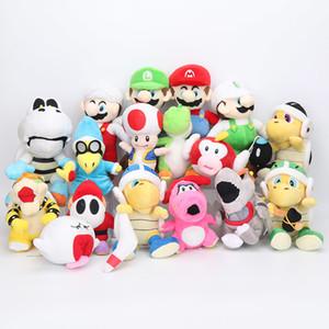 15-25cm Bros игрушки Super Mario плюша Luigi Йоши Peach Shy Guy Birdo Boo Летающая рыба мягкая мягкая игрушка Детские куклы