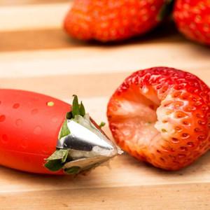 Красная клубника Huller Clobberry Top Leaf Remover Fruit Tomato Stalks Fruit Нож для удаления стебля полезные кухонные гаджеты EWD2782